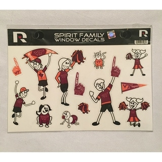 Virginia Tech Hokies Spirit Family Window Decals 8 X 5 5 Car Window NCAA