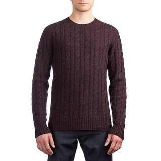 Prada Men's Wool Cashmere Knitted Crewneck Sweater Purple
