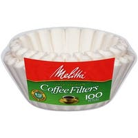 Melitta 8-12 Cup Basket Coffee Filters Paper White, 100 Count, 2 Pack