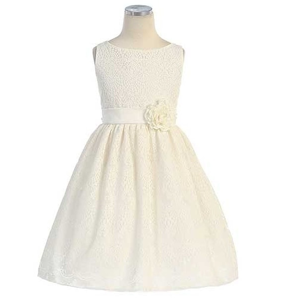 Sweet Kids Toddler Girl 3T Off White Vintage Lace Overlay Easter Dress