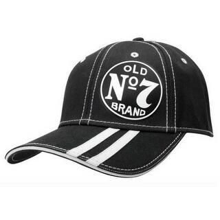 324065ed541 Jack Daniels Independence Old No 7 Brand Stripe Baseball Cap Black JD77-94