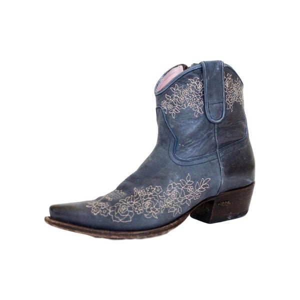 Miss Macie Western Boots Womens Persuaded Floral Slate Blue