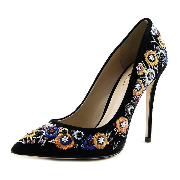 Nicole Miller MacCallan Women Pointed Toe Suede Heels