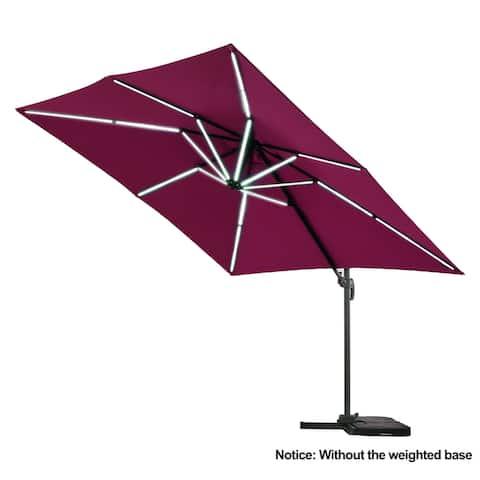 10 Ft Patio Outdoor Garden Roma Umbrella with LED