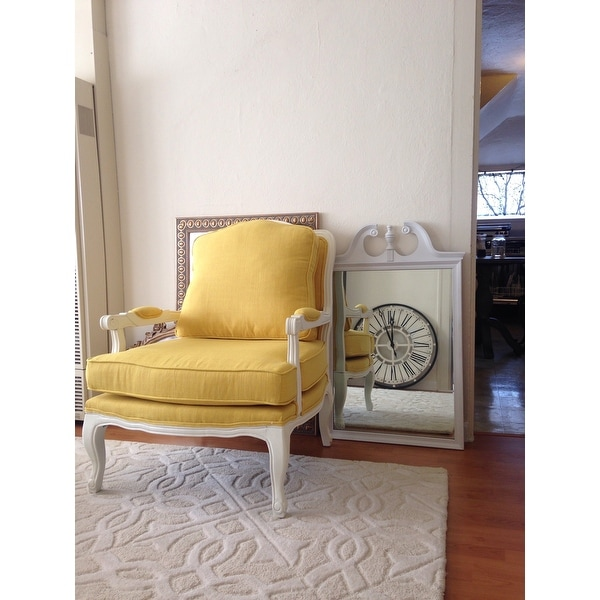 Genial Shop Antoinette Traditional Classic Antiqued French Yellow Accent Chair    Free Shipping Today   Overstock.com   10129162