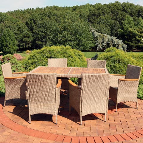 Foxford 7-Piece Outdoor Dining Patio Furniture Set with Cushions