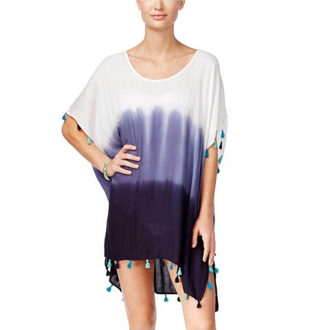 Raviya Women's Dip-Dye Ombre Tunic Cover-up (Navy, S) - Small