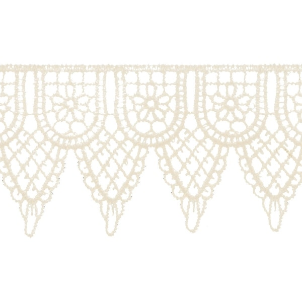 "Double Scalloped Venice Lace 2-1/4""X10yd-Candlelight"
