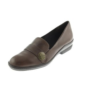 David Tate Womens Remi Leather Slip On Loafers