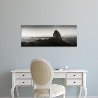 Easy Art Prints Panoramic Images's 'Sugarloaf Mountain at sunset, Rio de Janeiro, Brazil' Premium Canvas Art