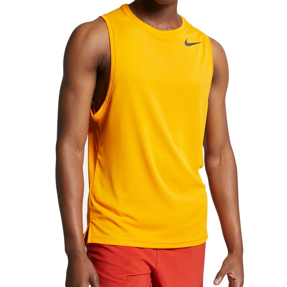 Nike Mens Activewear Top Peel Medium Cotton Dri-Fit Tank