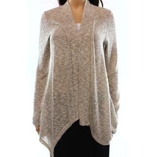 Bobeau NEW Beige Women's Size Large L Cardigan Open-Front Knit Sweater
