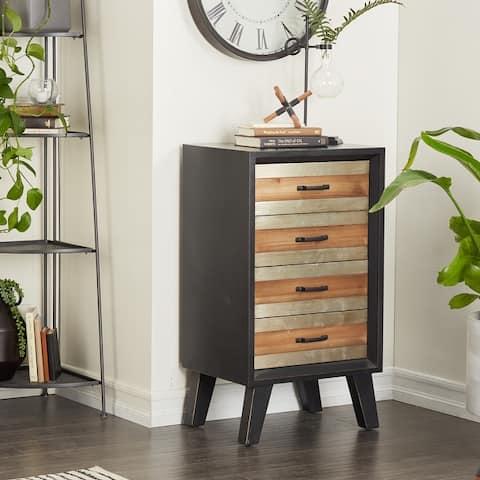 Black MDF Modern Cabinet - 19 x 15 x 34