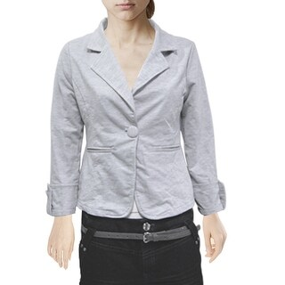 Unique Bargains Size XS Gray Multi Layer Back Bowtie Decor Autumn Coat