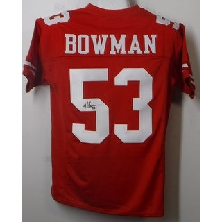 Navorro Bowman Autographed San Francisco 49ers Custom Size XL Red Jersey