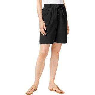 Karen Scott Womens Skimmers Comfort Waist Cotton - XL