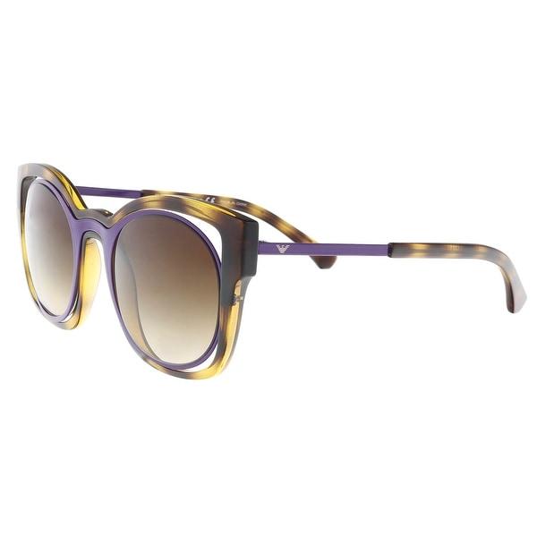 1dee08a667 Emporio Armani EA4091 502613 Havana Purple Cateye Sunglasses - 50-23-140