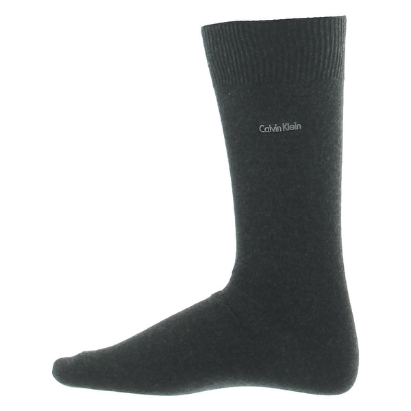 Calvin Klein Mens Dress Socks Signature Knit - 7-12