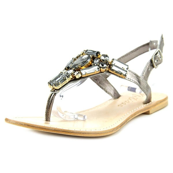 Matisse Wizard Women Open Toe Leather Silver Thong Sandal