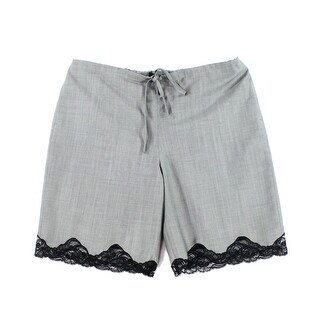 Alexander Wang NEW Gray Womens Size Large L Drawstring Lace Hem Shorts