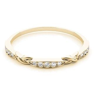 Link to Lucid Styles 14K Gold 0.07 CT Petite Milgrain Diamond Stackable Wedding Ring Similar Items in Rings