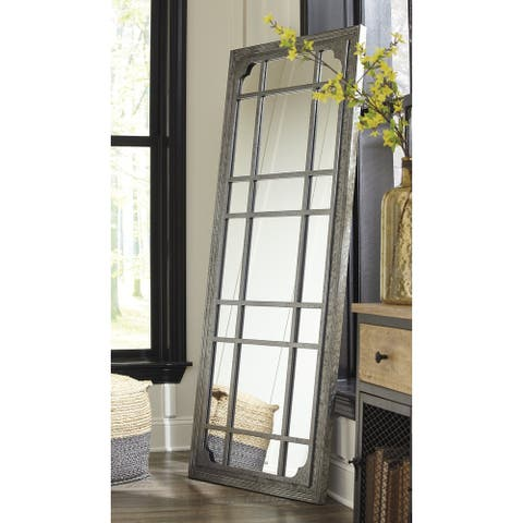 "Remy Modern Farmhouse Leaning Floor Mirror - 30"" W x 1.5"" D x 71"" H - 30"" W x 1.5"" D x 71"" H"