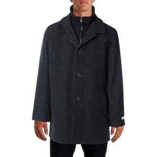 Calvin Klein Mens Wool Herringbone Coat