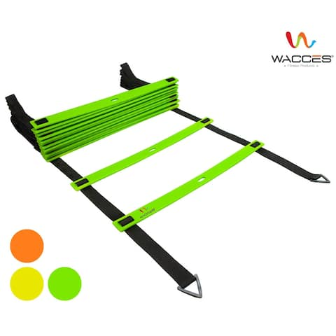 Wacces Speed Adjustable Agility Ladder with Carrying Bag - 12 Rungs