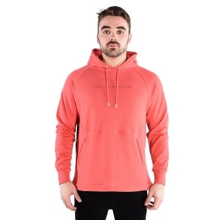 Diem Men's Knit Hooded Pullover - Aruba In Coral