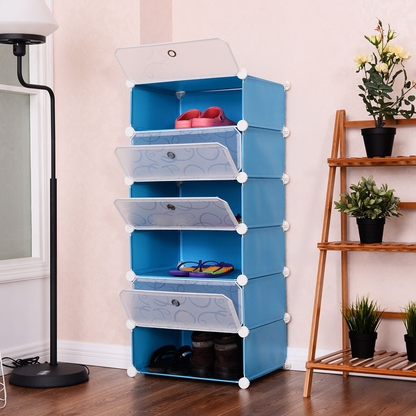 Costway 6 Cubic Portable Shoe Rack Shelf Cabinet Storage Closet Organizer Home Furniture