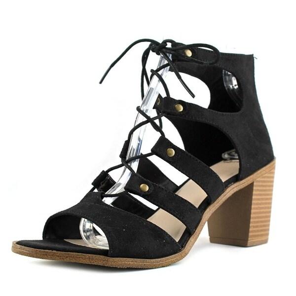 Fergalicious Mambo Women Open Toe Leather Black Sandals