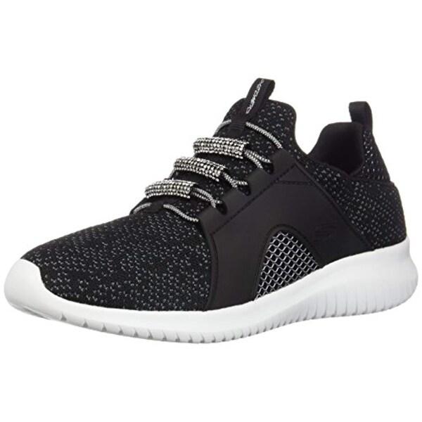9e68b0a5bb Skechers Ultra Flex Glisten & Glow Womens Slip On Sneakers Black/White