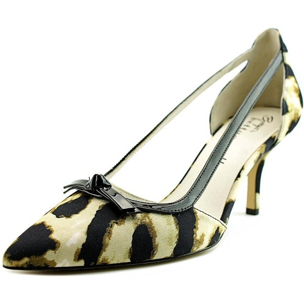 Bettye Muller Amici Women Black Leopard Pumps