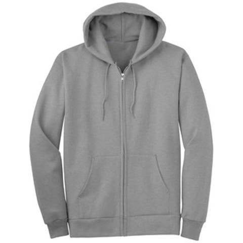Classic Fitted Basic Zip Up Hoodied Sweater