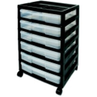 6-Case Acid-Free Project Case Scrapbook Chest Drawer,