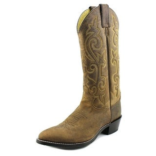 """Justin Boots 13"""" Bay Apache Men Pointed Toe Leather Brown Western Boot"""