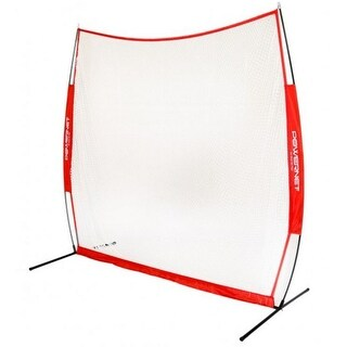 Powernet Golf Practice Range Net 7' x 7' w/ Carry Bag Portable, Red PN-1031