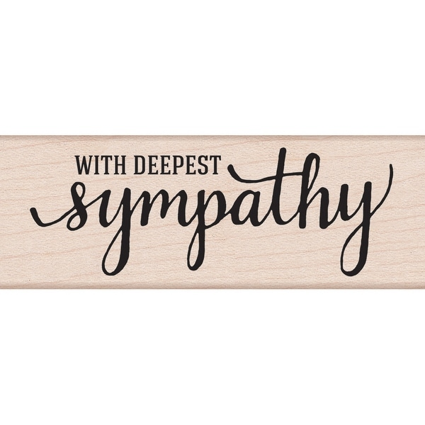 "Hero Arts Mounted Rubber Stamp 3.75""X1.25""-With Deepest Sympathy"
