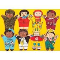 Dexter Educational Toys  Career 8 Piece Puppet Set - Multicultural