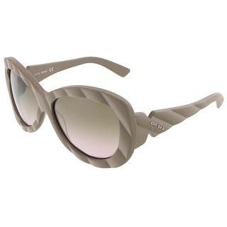 Diesel DL 0007/S 59P Matte Taupe Oversized Sunglasses