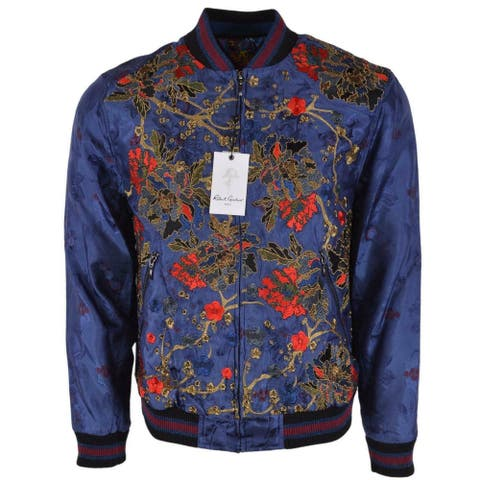 Robert Graham RG LTD Edition BRANCH OUT Embroidered Silk Bomber Jacket