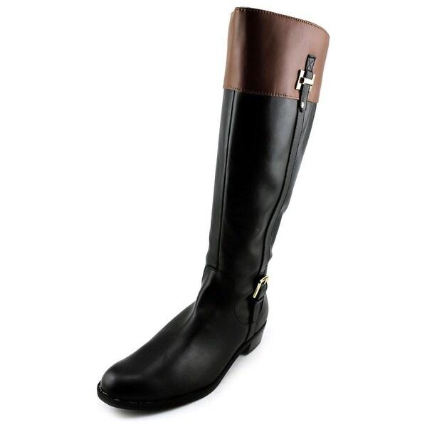 Karen Scott Deliee Women Round Toe Synthetic Black Knee High Boot