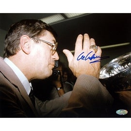Al Arbour Drinking From Stanley Cup 16x20 Photograph