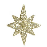 "20"" LED Lighted Gold 3D Star of Bethlehem Hanging Christmas Decoration"