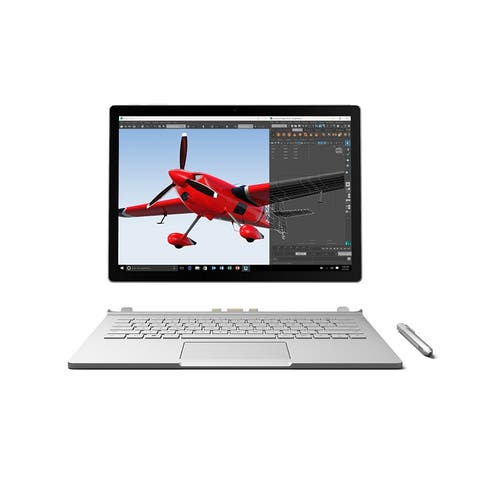 "Microsoft Surface Book 512 GB Intel Core i7-6600U X2 2.6GHz 13.5"",Silver(Certified Refurbished)"