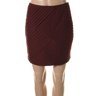 Catherine Malandrino Womens Ponte Pleated Pencil Skirt - 4