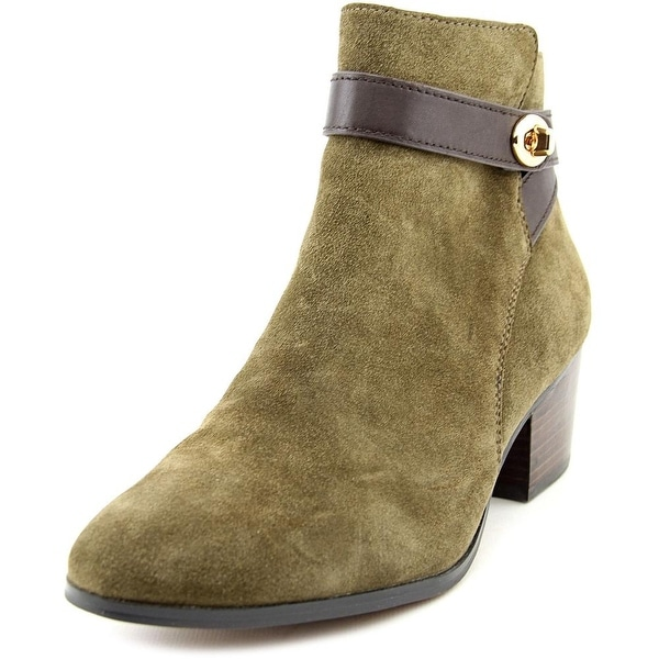 Coach Patricia Women Round Toe Suede Green Ankle Boot
