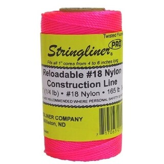 Stringliner 35109 Twisted Mason Line Reel Refill, Pink, 270'
