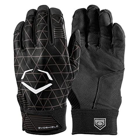 EvoShield Evocharge Protective Youth Batting Gloves (Black/Size Large)