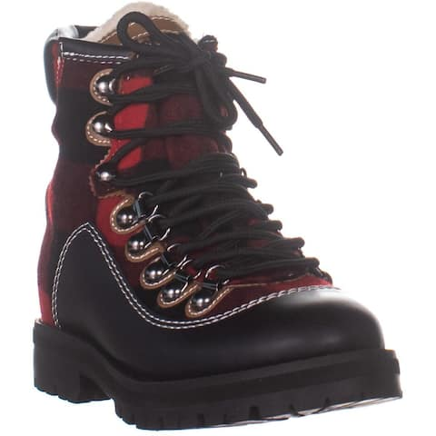 Tommy Hilfiger Tonny2 Hiking Boots, Red Multi Fabric - 6 US